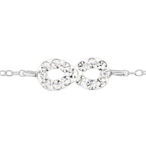 【送料無料】ブレスレット アクセサリ― ブレスレットchildrens infinity bracelet silverunique crystal