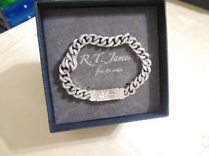 【送料無料】ブレスレット アクセサリ― ジェームスリンクブレスレット listingrt james silvertone link bracelet d605