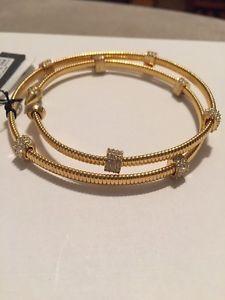【送料無料】ブレスレット アクセサリ― ドルビンスホリデースパイラルガラスブレスレット68 vince camuto holiday spiral goldtone pave glass crystal bracelet vc66