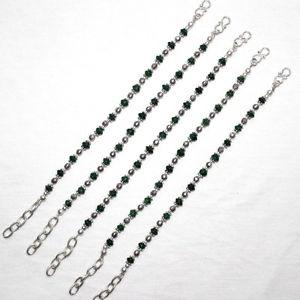 【送料無料】ブレスレット アクセサリ― ブレスレットグラムロットnatural green aventurine gemstone fine bracelet 46 gram 5pc lot