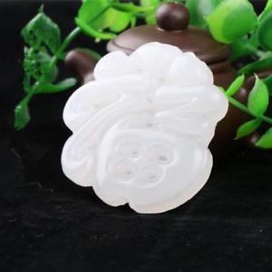 【送料無料】ブレスレット アクセサリ― フーペンダントペンダントchinese beautiful white jade handcarved blessing fu pendant pendant amulet
