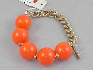 【送料無料】ブレスレット アクセサリ― ケネスニューヨークオレンジアクリルボールストレッチブレスレットkenneth cole york goldtone bright orange acrylic ball half stretch bracelet