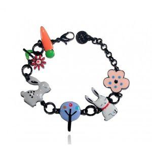 【送料無料】ブレスレット アクセサリ― ブレスレットウサギグレーlol bijoux bracelet histoire de lapin rabbit grey