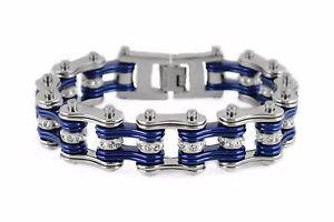 【送料無料】ブレスレット アクセサリ― メンズステンレススチールシルバーバイクチェーンブレスレットアメリカmens stainless steel silver bike chain bracelet usa seller