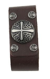 【送料無料】ブレスレット アクセサリ― ブレスレットレザーブラウンリベットローマbracelet leather brown with motive rivets roman