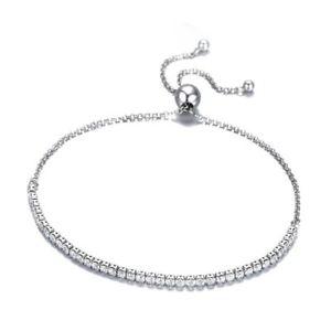 【送料無料】ブレスレット アクセサリ― スターリングシルバーブレスレットブレスレットシルバー3x925 sterling silver sparkling strand bracelet women bracelet silver jewe c4c4