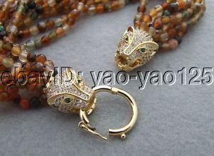 【送料無料】ブレスレット アクセサリ― クラスプs031714 natural 8strds agate braceletrhinestone clasp