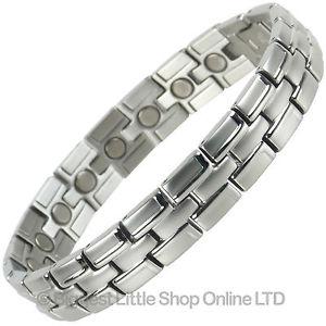 【送料無料】ブレスレット アクセサリ― メンズステンレススチールマグネットブレスレット gents mens magnetic stainless steel magnet bracelet