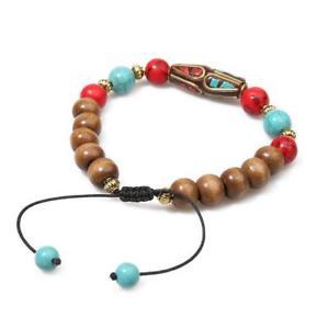 【送料無料】ブレスレット アクセサリ― サンダルウッドチベットビーズブレスレットsandalwood and tibetan beads bracelet