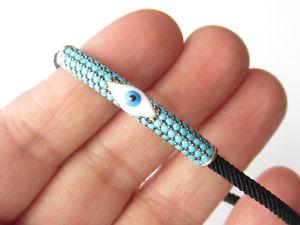 【送料無料】ブレスレット アクセサリ― スターリングシルバーユニークターコイズブレスレット925 sterling silver unique turquoise evil eye handmade adjust bracelet