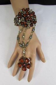 【送料無料】ブレスレット アクセサリ― ビードカフブレスレットゴールドファッションスレーブリングwomen flower heart bead cuff bracelet gold metal hand chain fashion slave ring