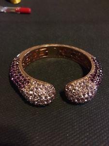 【送料無料】ブレスレット アクセサリ― ブレスレットcrystal bracelet with light and dark purple crystals