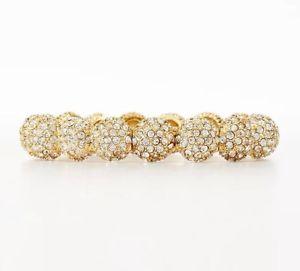 【送料無料】ブレスレット アクセサリ― アンテイラーカボションクリスタルストレッチブレスレットnwt ann taylor gold pave cabochon crystal stretch bracelet