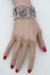 【送料無料】ブレスレット アクセサリ― エジプトアイロンクロスブレスレットファッションスレーブリングブリングシルバーwomen egyptian iron cross bracelet hand chains fashion slave ring bling silver