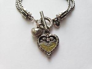 【送料無料】ブレスレット アクセサリ― ブライトントリプルチェーンエナメルブレスレットトグルbrighton heart triple chain enamel toggle bracelet retired