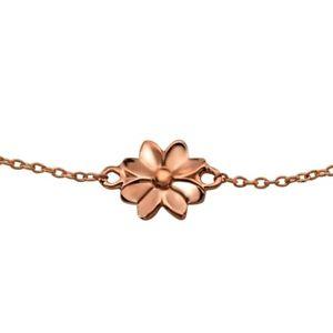 【送料無料】ブレスレット アクセサリ― ローズゴールドフラワーブレスレットrose gold flower bracelet