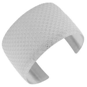 【送料無料】ブレスレット アクセサリ― ステンレススチールシルバーエンドワイドサークルオープンカフブレスレットstainless steel silver open end wide circle womens cuff bracelet
