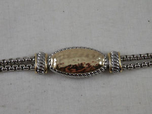 【送料無料】ブレスレット アクセサリ― ダブルチェーンブレスレットクラスプw x double chain bracelet magnetic clasp 75
