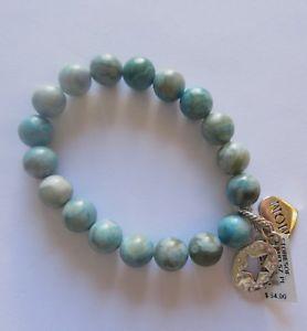 【送料無料】ブレスレット アクセサリ― ブレスレットブライトンターコイズラウンドビーズストレッチbrighton stories of mom bracelet turquoise round beadsstretch2 charms star