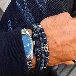【送料無料】ブレスレット アクセサリ― mensブレスレットassorted mens beaded bracelet