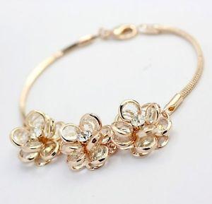 【送料無料】ブレスレット アクセサリ― ブレスレットメッキkクリスタルローズクリスマスluxury bracelet gold plated 18k pl crystal rose birthday christmas gift