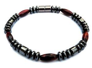【送料無料】ブレスレット アクセサリ― ヘマタイトブレスレットレッドタイガーアイmen women magnetic hematite bracelet anklet circulation red tiger eye 1 row aaa