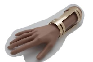 【送料無料】ブレスレット アクセサリ― カフブレスレットジュエリーレトロラップアラウンド women gold wrist cuff bracelet long bulky jewelry wonder retro wrap around