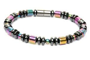 【送料無料】ブレスレット アクセサリ― 100bracelet anklet rainbow drum 1mens womens 100 magnetic hematite powerful bracelet anklet rainbow drum 1 row