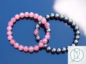 【送料無料】ブレスレット アクセサリ― カップルストロベリーヘマタイトブレスレットヒーリングcouple strawberryhematite natural gemstone bracelet 69 elasticated healing