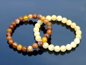 【送料無料】ブレスレット アクセサリ― ストーン69ゴムブレスレットcouple calciteagate natural gemstone bracelet 69 elasticated healing stone