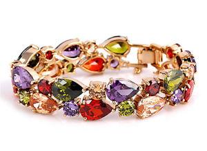 【送料無料】ブレスレット アクセサリ― ファッションブレスレットカラフルfashion bracelet with colorful crystals