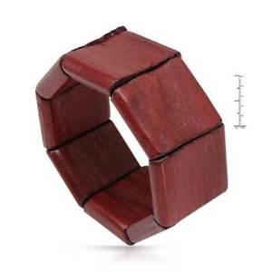 【送料無料】ブレスレット アクセサリ― elle dark red wood stretch braceletelle dark red wood stretch bracelet