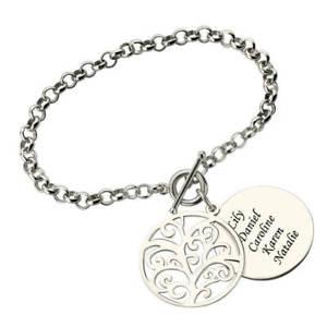 【送料無料】ブレスレット アクセサリ― ブレスレットブレスレットengraved family tree bracelet name bracelet tree of life mothers day gift