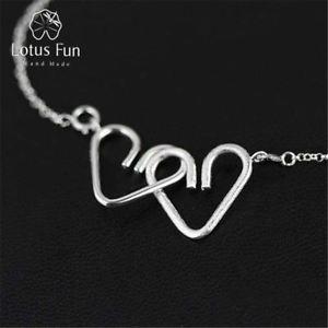 【送料無料】ブレスレット アクセサリ― ロマンチックハートブレスレットスターリングシルバーlotus fun romantic sweet heart to heart bracelet 925 sterling silver creative d