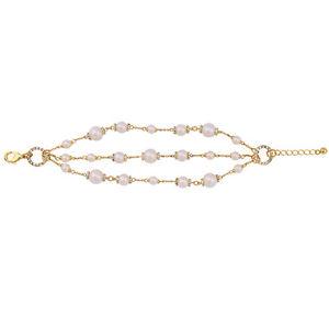 【送料無料】ブレスレット アクセサリ― ブレスレットゴールデンパールクラスレトロbracelet golden multirank pearl cobblestone class retro marriage ct4