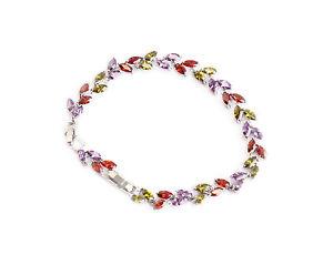 【送料無料】ブレスレット アクセサリ― オーストリアブレスレットbeautiful austrian crystals bracelet multicoloured crystals adjustable length