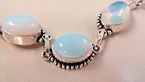 【送料無料】ブレスレット アクセサリ― ブレスレットオーストラリアミルキーオパールbracelet australian milky opal on silver plated setting