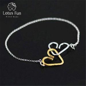 【送料無料】ブレスレット アクセサリ― ロマンチックスターリングシルバークリエイティブハートブレスレットlotus fun romantic sweet heart to heart bracelet in 925 sterling silver creative