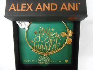 【送料無料】ブレスレット アクセサリ― アレックスゴールドボックスブレスレットクリスマスalex and ani joy to the world shiny gold charm bracelet christmas in box