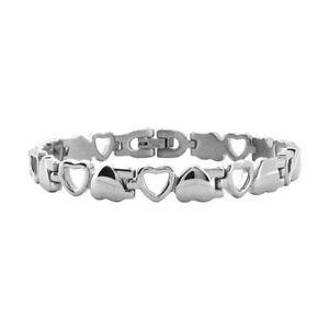 【送料無料】ブレスレット アクセサリ― ジュエリーステンレススチールハートリンクロマンチックブレスレットwomens inox jewelry stainless steel heart link romantic bracelet