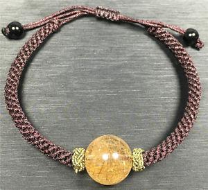 【送料無料】ブレスレット アクセサリ― ゴールドルチルチタンブレスレット145mmaaaaanatural gold rutilated quartz titanium crystal beads bracelet 145mm aaaaa