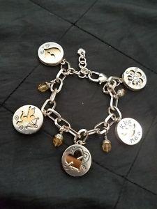 【送料無料】ブレスレット アクセサリ― ブライトンバレンタイントーンブレスレットbrighton love, valentine two tone charm bracelet