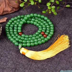 【送料無料】ブレスレット アクセサリ― dongling108ブレスレットnatural dongling jade yellow tassels 108 buddhism bead bracelet