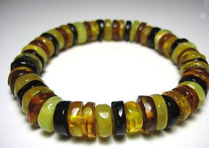 【送料無料】ブレスレット アクセサリ― バルトブレスレットマルチカラーnatural baltic amber bracelet multicolour elastic thread