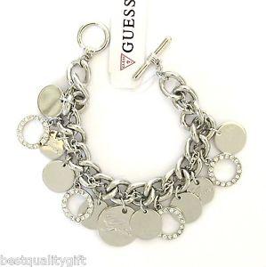【送料無料】ブレスレット アクセサリ―  guesstone chainmulti circlecrystal charms toggle bracelet guess silver tone chainmulti circle crystal charms toggle brace