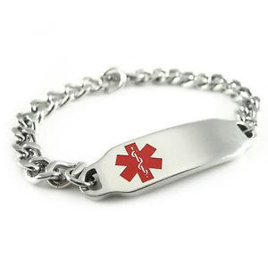 【送料無料】ブレスレット アクセサリ― アラートブレスレットmyiddr womens pre engraved heart angina alert id bracelet