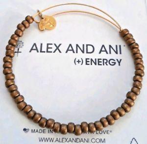 【送料無料】ブレスレット アクセサリ― アレックスマットダークゴールドシービーズロシアゴールドブレスレットalex and ani matte dark gold sea bead russian gold expandable bracelet  rare