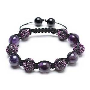 【送料無料】ブレスレット アクセサリ― shamballaブレスレットアメジストshamballa inspired bracelet crystal amethyst beads