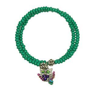 【送料無料】ブレスレット アクセサリ― ビーズブレスレットフクロウアンwomens beaded bracelet with owl charm knowledge wrapsody by anne koplik