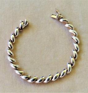 【送料無料】ブレスレット アクセサリ― vntg925スターリング7 14ブレスレット1328gvntg signed 925 sterling silver polished crescent shape 7 14 bracelet 1328g